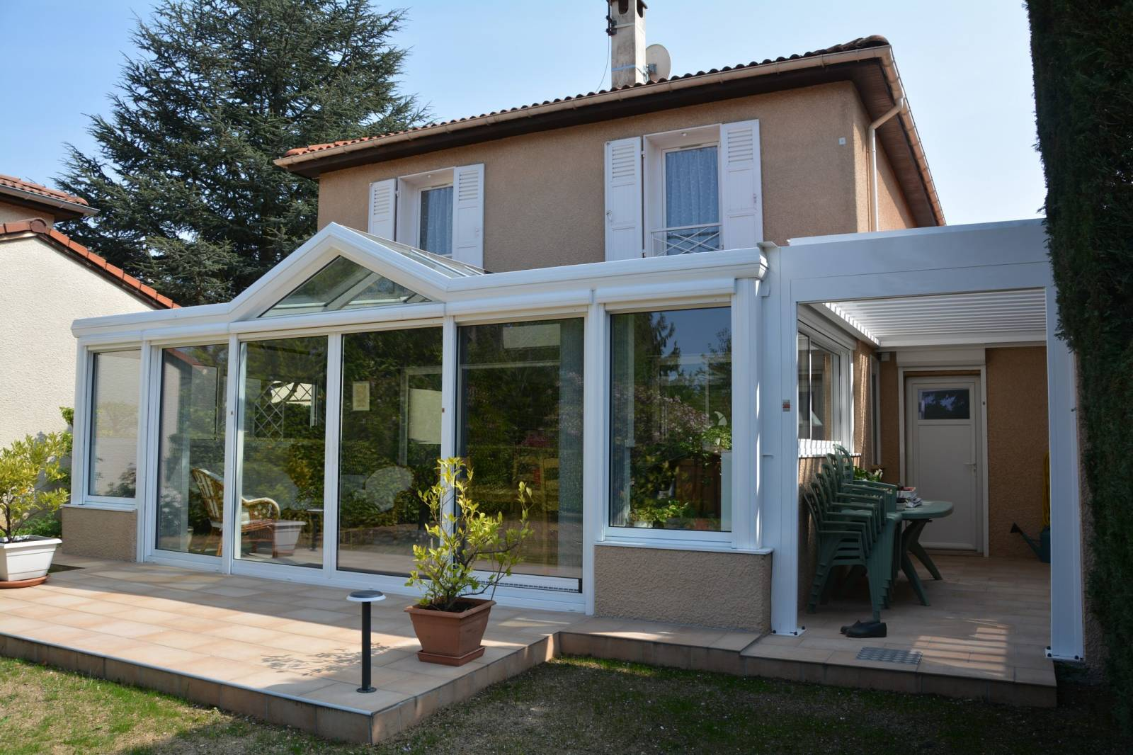 Faire Une Veranda concernant quel est le prix d'une veranda alu 20m² à lyon ? - perspective véranda