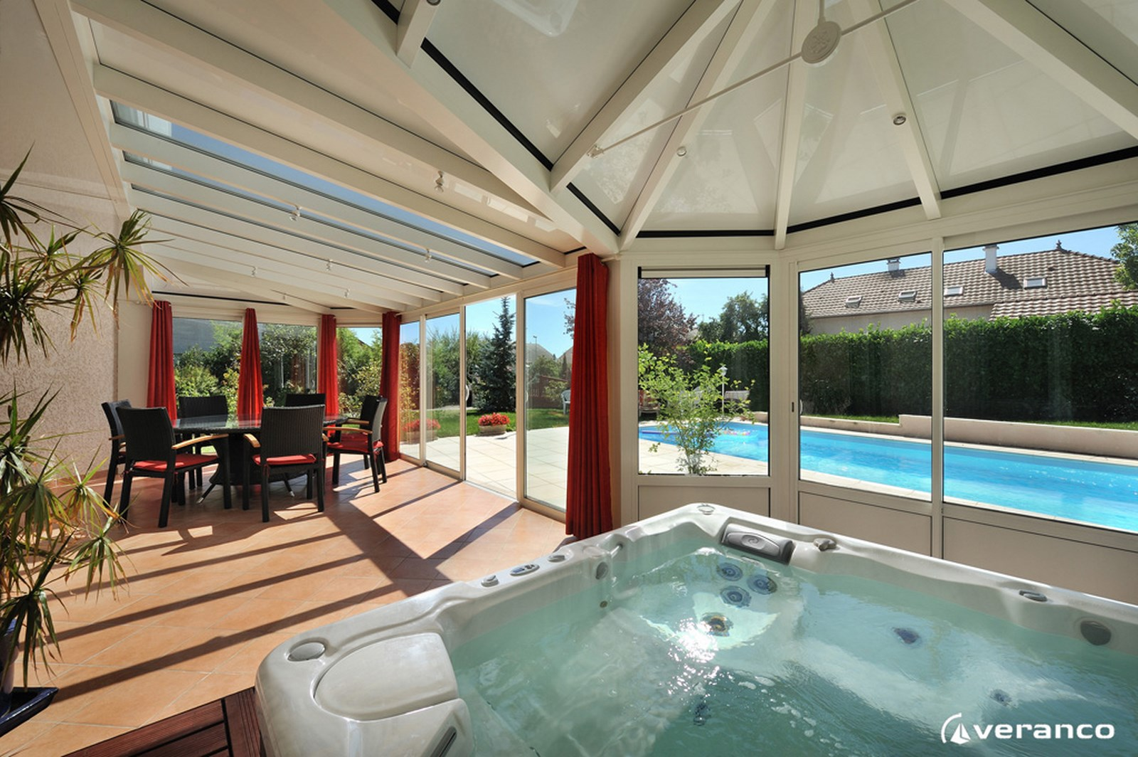 V randas spa perspective v randa - Isolation veranda hiver ...